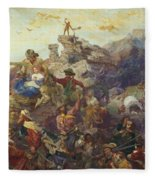 Westward The Course Of Empire Takes Its Way Fleece Blanket