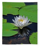 2- White Water Lily Fleece Blanket