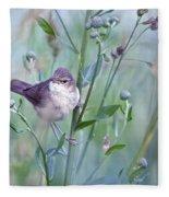 Wild Bird In A Natural Habitat Fleece Blanket