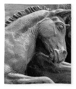 Wild Mustang Statue I V Fleece Blanket