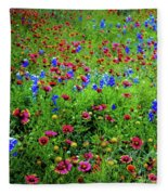 Wildflowers In Bloom Fleece Blanket