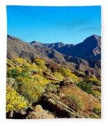 Wildflowers On Rocks, Anza Borrego Fleece Blanket