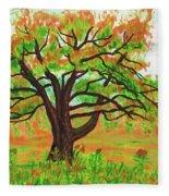 Willow Tree, Painting Fleece Blanket