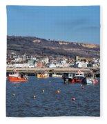 Winter Harbour - Lyme Regis Fleece Blanket