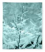Winter Wonderland In Switzerland Fleece Blanket