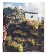 Women Warrior Fleece Blanket