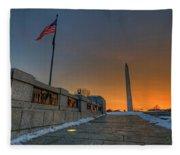 World War II Memorial Sunrise Fleece Blanket