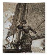 Yachting Girl Fleece Blanket