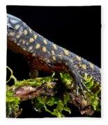 Yellow Spotted Tropical Night Lizard Fleece Blanket