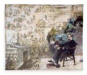 Charles Dickens 1812-1870.  To License For Professional Use Visit Granger.com Fleece Blanket