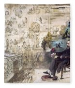 Charles Dickens 1812-1870.  To License For Professional Use Visit Granger.com Fleece Blanket