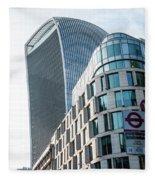 20 Fenchurch Street A Commercial Skyscraper In London Fleece Blanket