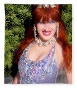 20000 Dollar Dress Of Sofia Metal Queen Fleece Blanket