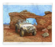 2005 Jeep Rubicon 4 Wheeler Fleece Blanket