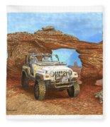 2005 Jeep Rubicon 4 Wheeler Fleece Blanket