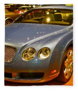 2006 Chicago 2006 Bentley Continental Gtauto Show Fleece Blanket