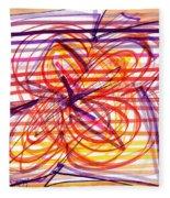 2007 Abstract Drawing 2 Fleece Blanket