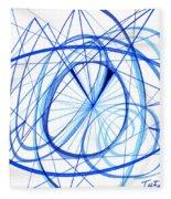 2007 Abstract Drawing 3 Fleece Blanket