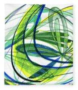 2007 Abstract Drawing 4 Fleece Blanket