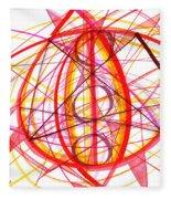 2007 Abstract Drawing 6 Fleece Blanket