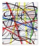 2007 Abstract Drawing 7 Fleece Blanket