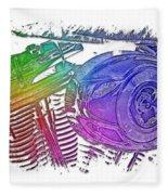 2007 Harley C 01 Cool Rainbow 3 Dimensional Fleece Blanket