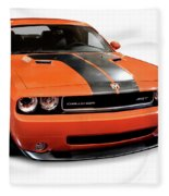2008 Dodge Challenger Srt Muscle Car Fleece Blanket