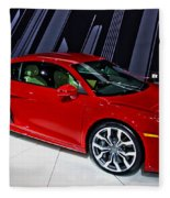 2009 Audi R8 Number 1 Fleece Blanket