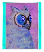 2009 Owl Negative Fleece Blanket