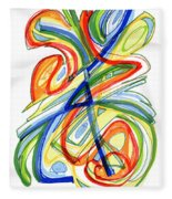 2010 Abstract Drawing Eight Fleece Blanket