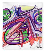 2010 Abstract Drawing Eleven Fleece Blanket
