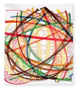 2010 Abstract Drawing Fifteen Fleece Blanket