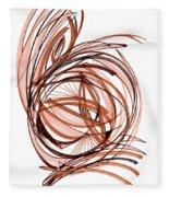 2010 Abstract Drawing Six Fleece Blanket