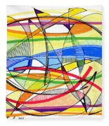 2010 Abstract Drawing Sixteen Fleece Blanket