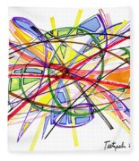 2010 Abstract Drawing Twelve Fleece Blanket