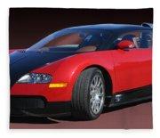 2010 Bugatti Veyron E. B. Sixteen Fleece Blanket
