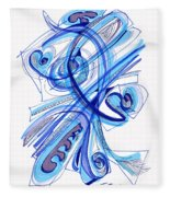 2010 Drawing Four Fleece Blanket