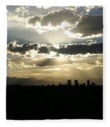 2010 June 4 Sunset Over Denver Fleece Blanket