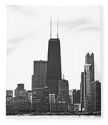 2012 08 11 Bw Chicago Dsc_1612_sig Fleece Blanket