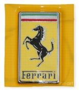 2012 Ferrari Hood Emblem Fleece Blanket
