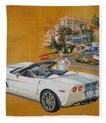 2013 Chevrolet Corvette Fleece Blanket