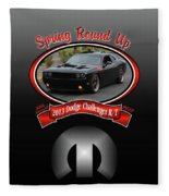 2013 Dodge Challenger Rt Wheeler Fleece Blanket