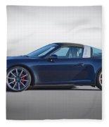 2014 Porsche 911 Targa 4s 'studio' Fleece Blanket