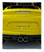 2014 Porsche Cayman S Number 2 Fleece Blanket