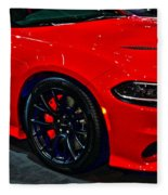 2015 Dodge Charger Srt Hellcat Fleece Blanket