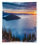 2015 Spring Sunrise From Discovery Point Fleece Blanket