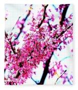 2016-03-18 Redbud Tree In Bloom Fleece Blanket