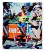 2016 Boston Marathon Winner 2 Fleece Blanket