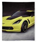 2016 Chevrolet Corvette Z06 Coupe Sports Car Fleece Blanket