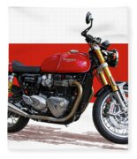 2016 Triumph 1200 Cc Motorcycle Fleece Blanket